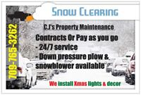 Snow Clearing - 765-3262 We install Christmas Lights