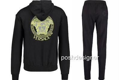 VERSACE BLK Meduse Hoodie Set SWEATSHIRT + Pants L New