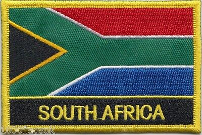 South Africa Flag Embroidered Patch Badge - Sew or Iron on