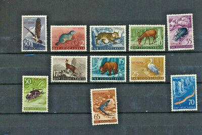ANIMALS Trieste Zone B Scott #93 - 103 Mint NH Set of 11 1954 Overprints