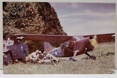 - WWII Stinson Sentinel - Two-Seat Flying Jeep Postcard D2