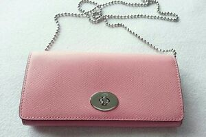 ♡Brand New♡ Coach Pink Wallet with Chain