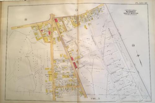 1891 SOUTH BOSTON MASSACHUSETTS WASHINGTON HALL SMITH CARLTON IRON CO ATLAS MAP