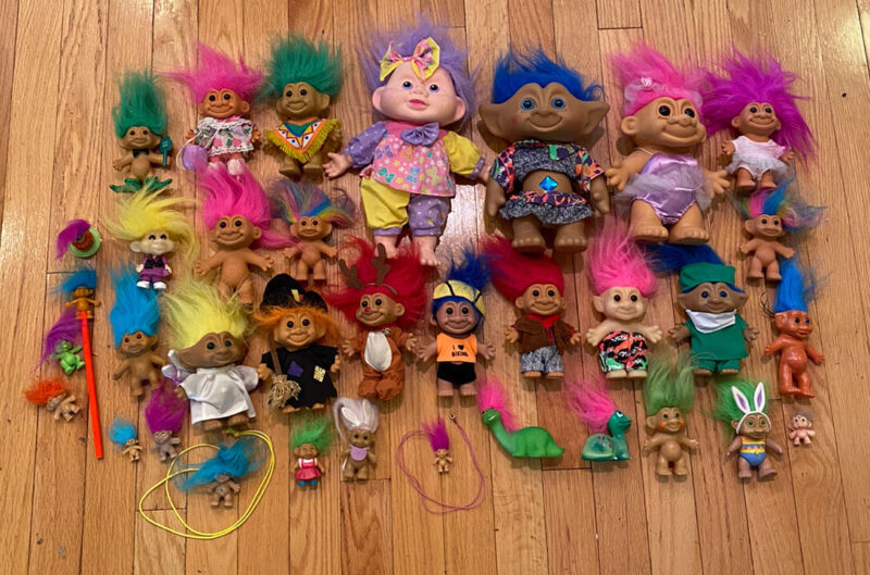 Vtg 80s 90s Troll Doll Mixed Lot