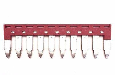 Din Rail Terminal Block Jumpers 4 Quantity Dss6n-10p Dinkle 8 Awg 10 Pole Dk6n