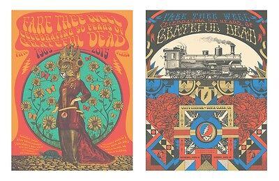 Grateful Dead Fare Thee Well Levi Stadium Santa Clara Poster Set by Helton