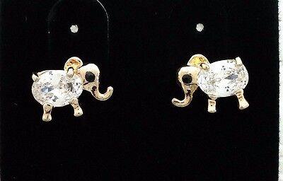 - Hypo-allergenic Stud Sensitive Ears Elephant Style Cubic zirconia Earrings 9