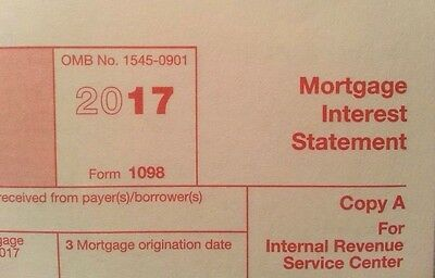2017  5 Sheets 1098 Irs Mortgage Interest Statement   3 1096 Transmittal Forms