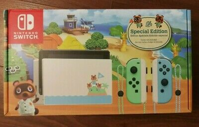 NEW Nintendo Switch Animal Crossing: New Horizons Edition Gaming Console Bundle