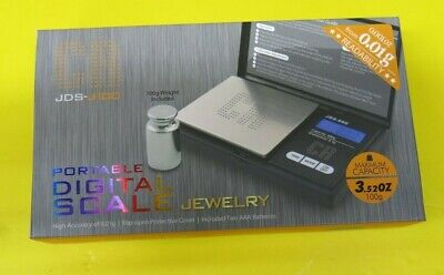 Cr Jds-j100 0.01g 100g Portable Pocket Digital Jewelry Weighing Scale Silver