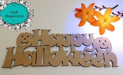 Wooden, MDF, Happy Halloween Sign, Indoor or Outdoor Decoration, - Wooden Outdoor Halloween Decorations