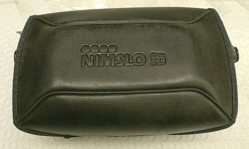 NIMSLO 35mm 3D Leather Camera Snap Case - Very RARE