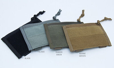 Milspec Monkey MSM Morale Patch Panel Admin Pouch Pocket COYOTE BROWN Hook Loop