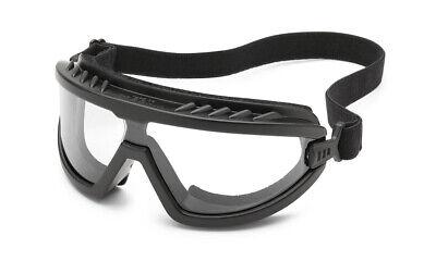 Gateway Wheelz Foam Padded Anti Fog Clear Black Safety Goggles Glasses Z87