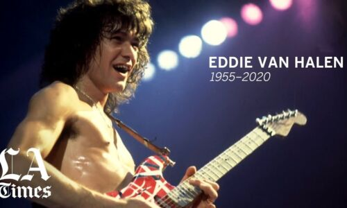"EDDIE VAN HALEN MEMORIAL FRIDGE MAGNET 5"" X 3.5"""