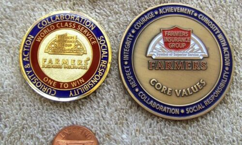 (2) Farmers Insurance Group  Award  CORE VALUES...    COINS