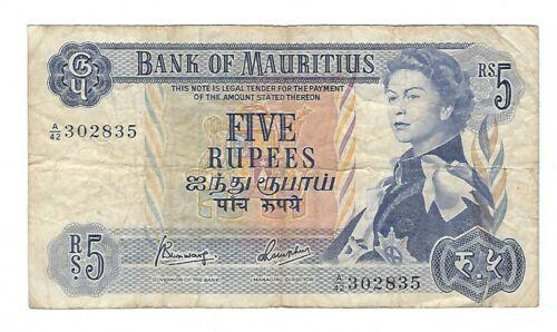 Mauritius - Five (5) Rupees, 1967