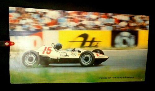 Old Formula Continental Vee Racing Volkswagen Ad Sign Poster Helmut Marko car 15