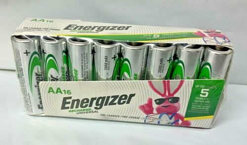 Energizer Rechargeable AA Batteries, NiMH, 2000 mAh,16 ct (Recharge Universal)