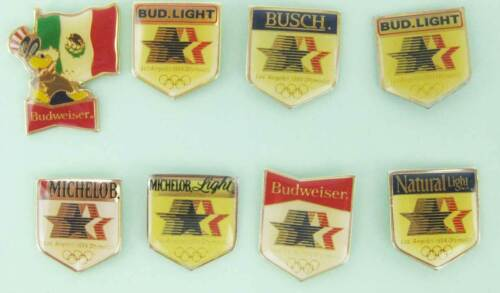 Rare Budweiser 1984 Los Angeles Summer Olympics Collector Pins (8)