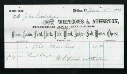 Crutches Receipt for John Calvin Coolidge Sr. (Father of Calvin) Ludlow VT, 1873