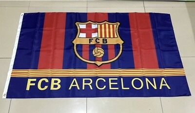 Barcelona FC Flag Banner 3x5 ft Spain Soccer Bicolor New Futbol Club - Soccer Banners