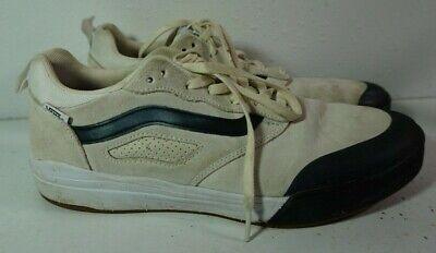 Vans Beige Navy Blue Ultracush PRQ Tyson Peterson Skateboard Shoes Mens Sz 12