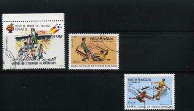 FUTBOL OF MAURITANIA,- NICARAGUA,-CUP SPAIN/82