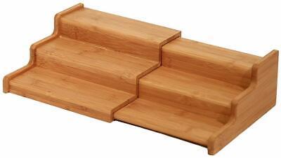Seville Classics 3-Tier Expandable Bamboo Spice Rack Organiz