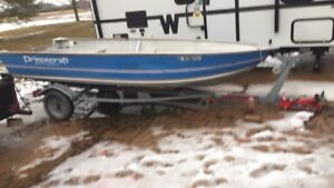 14 foot aluminum boat motor and trailer combo