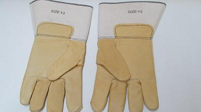 New Size 13 Mens Leather Work Gloves