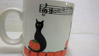 Black Cats Halloween Song (Vintage Halloween Mug Black Cat Pumpkin Cat Sings Boooooo Song Musical)