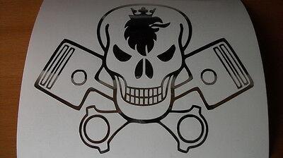 SCANIA Greif mit Kolben Emblem für eine Fahrerhausrückwand in Chrom Aufkleber