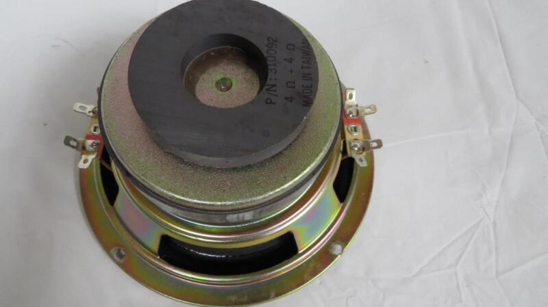 "Replacement 6-1/2"" Dual 4 Ohm Voice Coil Sub Woofer Magnetic Shield Model 310092"