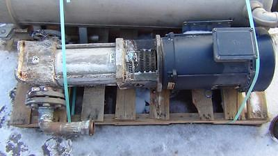 Grundfos Cr16 Pump With Leeson 10hp 230480v G140696.00 Motor - Complete - Xlnt