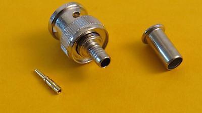 AIM 27-9201 BNC 3-Piece Easy Crimp Connector for RG58AU Solderless & Quality Bnc Rg58 Connector 3 Pieces