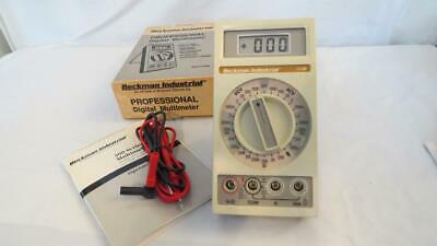 Beckman 310b 3-12 Digit Multimeter Lcd Display With Leads Manual Old Stock