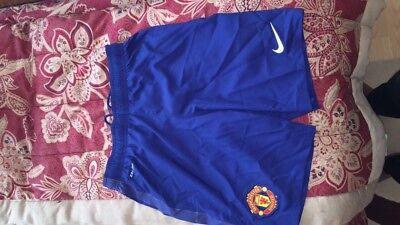 Manchester United Shorts - Genuine Nike Man Utd Football Shots - Adult size