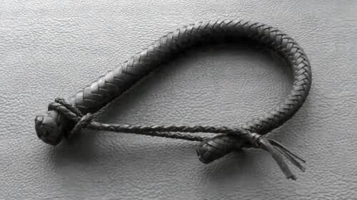 Russian Cossack Whip Horsewhip Nagayka Genuine Leather Reinforced Handmade