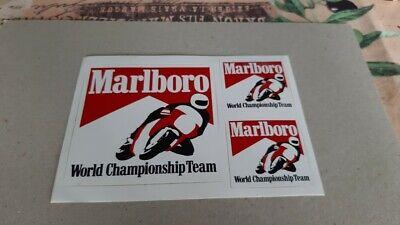 autocollant sticker rare MARLBORO word championship team moto