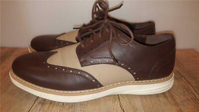 Men's Size 8 NAUTICA Wingdeck Oxford Shoes BROWN & TAN Wing Tip Fashion Sneaker