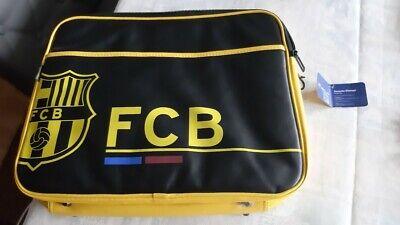 cartable Sac besace FC Barcelone football noir et jaune compartiment pour PC