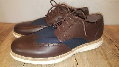 Men's Size 8 NAUTICA Wingdeck Oxford Shoes BROWN & NAVY Wing Tip Fashion Sneaker