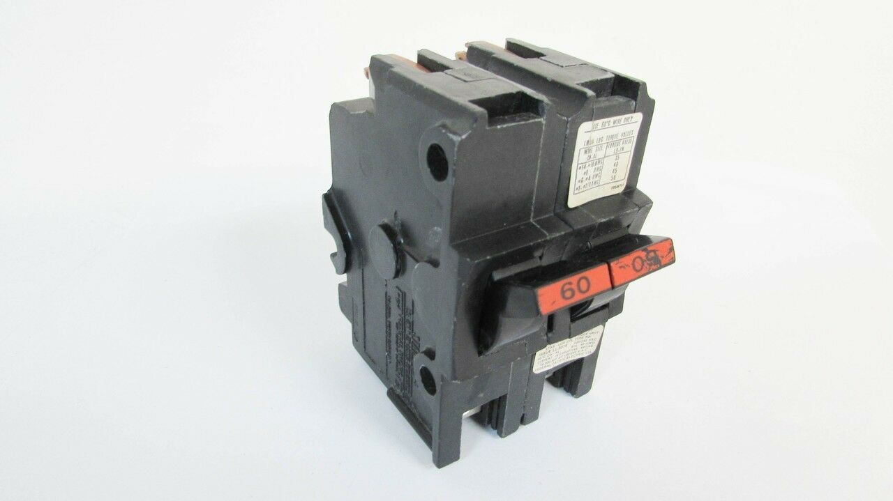 Fpe 60 Amp 2 Pole Stab Lok Circuit Breaker Na260 Federal Pacific 60a 200amp Main With 60amp Generator Stock Photo