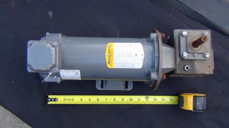 Baldor CDP3330 1/2hp 90vdc 1750rpm Mated to Morse 133Q56LR5 Gear Drive