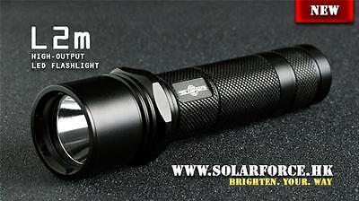 Solarforce L2m 18650 Cr123a Flashlight Body Host   Black  No Led