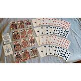 18th Century French Reproduction Plain Back  Playing Cards Paris Jean Lebahy