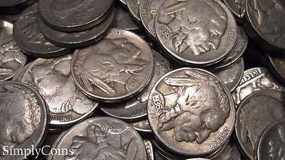 (10) Indian Head Buffalo Nickel Coin Lot ~ FULL DATES ~ Mixed US Collection Set