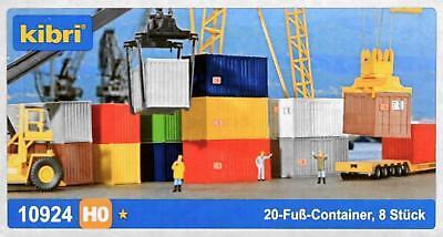 Kibri 10924 H0 - 20- Fuß- Container 8 Stück NEU & OvP