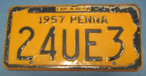 1957 Pennsylvania License Plate